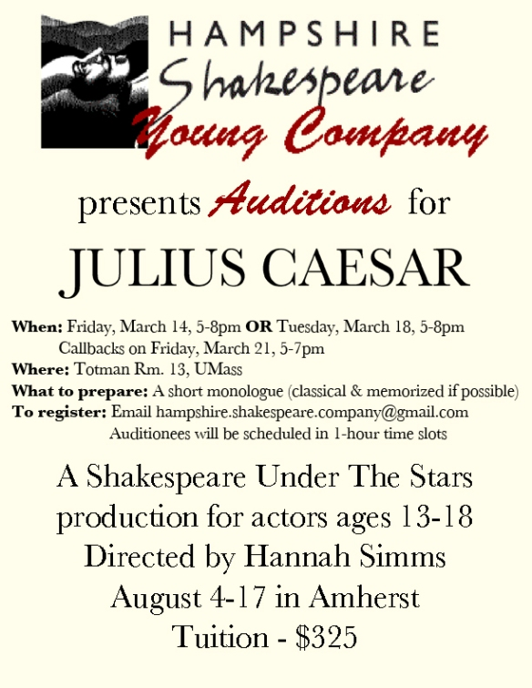 YC auditions flyer for the web