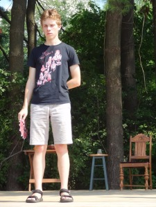 Ben rehearses for the 2013 Young Company production,
